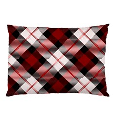 Smart Plaid Red Pillow Cases (two Sides)
