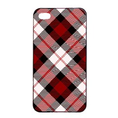 Smart Plaid Red Apple iPhone 4/4s Seamless Case (Black)