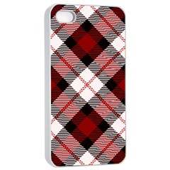 Smart Plaid Red Apple iPhone 4/4s Seamless Case (White)