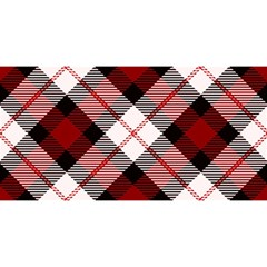 Smart Plaid Red YOU ARE INVITED 3D Greeting Card (8x4)