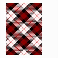 Smart Plaid Red Small Garden Flag (Two Sides)