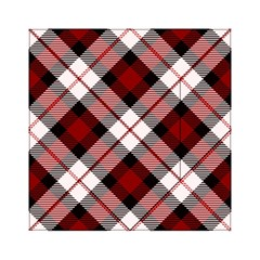 Smart Plaid Red Acrylic Tangram Puzzle (6  x 6 )