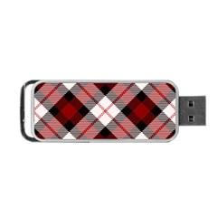 Smart Plaid Red Portable Usb Flash (two Sides)