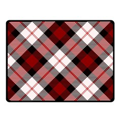 Smart Plaid Red Double Sided Fleece Blanket (Small)