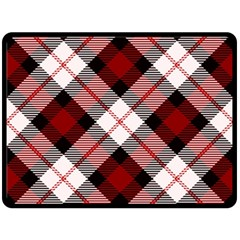 Smart Plaid Red Double Sided Fleece Blanket (large)