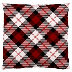 Smart Plaid Red Large Flano Cushion Cases (One Side)