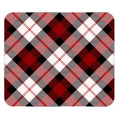 Smart Plaid Red Double Sided Flano Blanket (small)