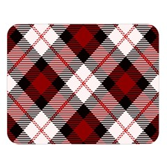 Smart Plaid Red Double Sided Flano Blanket (large)