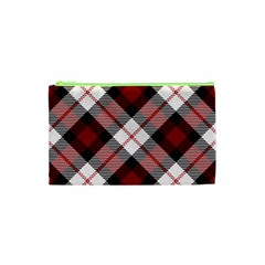 Smart Plaid Red Cosmetic Bag (XS)