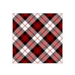 Smart Plaid Red Satin Bandana Scarf