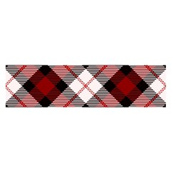 Smart Plaid Red Satin Scarf (Oblong)
