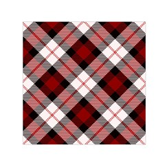 Smart Plaid Red Small Satin Scarf (Square)
