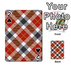 Smart Plaid Warm Colors Playing Cards 54 Designs