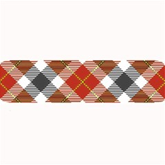Smart Plaid Warm Colors Large Bar Mats