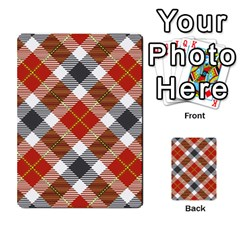 Smart Plaid Warm Colors Multi-purpose Cards (Rectangle)
