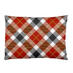 Smart Plaid Warm Colors Pillow Cases
