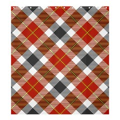 Smart Plaid Warm Colors Shower Curtain 66  x 72  (Large)