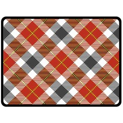 Smart Plaid Warm Colors Fleece Blanket (large)