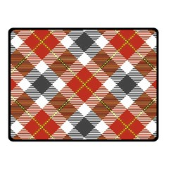 Smart Plaid Warm Colors Fleece Blanket (small)