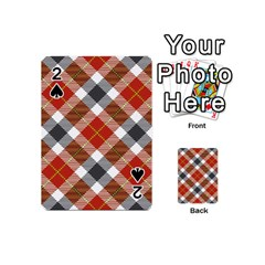 Smart Plaid Warm Colors Playing Cards 54 (Mini)