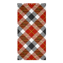 Smart Plaid Warm Colors Shower Curtain 36  X 72  (stall)
