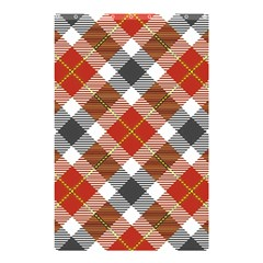 Smart Plaid Warm Colors Shower Curtain 48  x 72  (Small)