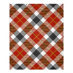 Smart Plaid Warm Colors Shower Curtain 60  x 72  (Medium)