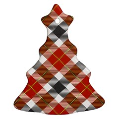 Smart Plaid Warm Colors Ornament (Christmas Tree)