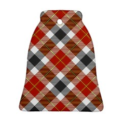 Smart Plaid Warm Colors Bell Ornament (2 Sides)