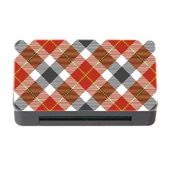 Smart Plaid Warm Colors Memory Card Reader with CF