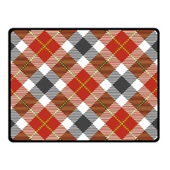 Smart Plaid Warm Colors Double Sided Fleece Blanket (Small)