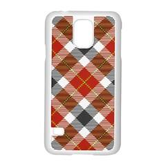 Smart Plaid Warm Colors Samsung Galaxy S5 Case (white)