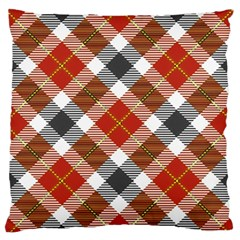 Smart Plaid Warm Colors Standard Flano Cushion Cases (one Side)