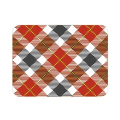 Smart Plaid Warm Colors Double Sided Flano Blanket (Mini)