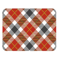 Smart Plaid Warm Colors Double Sided Flano Blanket (Large)