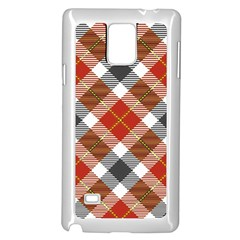 Smart Plaid Warm Colors Samsung Galaxy Note 4 Case (White)