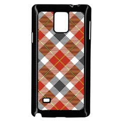Smart Plaid Warm Colors Samsung Galaxy Note 4 Case (Black)