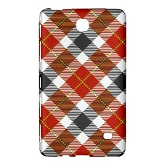 Smart Plaid Warm Colors Samsung Galaxy Tab 4 (8 ) Hardshell Case