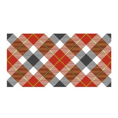 Smart Plaid Warm Colors Satin Wrap