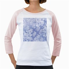 Delicate Floral Pattern,blue  Girly Raglans