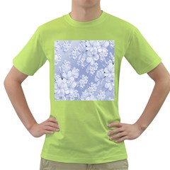 Delicate Floral Pattern,blue  Green T Shirt