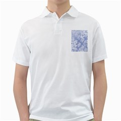Delicate Floral Pattern,blue  Golf Shirts