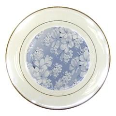Delicate Floral Pattern,blue  Porcelain Plates