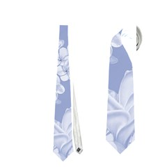 Delicate Floral Pattern,blue  Neckties (Two Side)