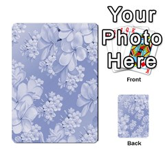 Delicate Floral Pattern,blue  Multi-purpose Cards (Rectangle)