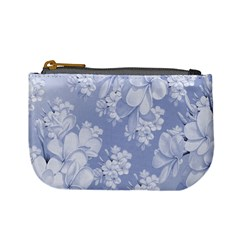 Delicate Floral Pattern,blue  Mini Coin Purses