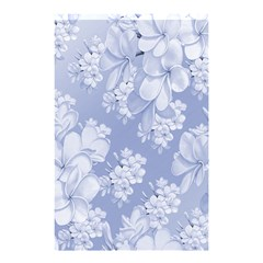Delicate Floral Pattern,blue  Shower Curtain 48  x 72  (Small)