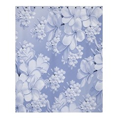 Delicate Floral Pattern,blue  Shower Curtain 60  x 72  (Medium)