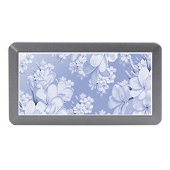 Delicate Floral Pattern,blue  Memory Card Reader (Mini)