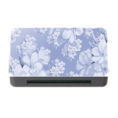Delicate Floral Pattern,blue  Memory Card Reader with CF
